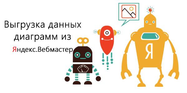 Экспорт диаграмм из Яндекс Вебмастер